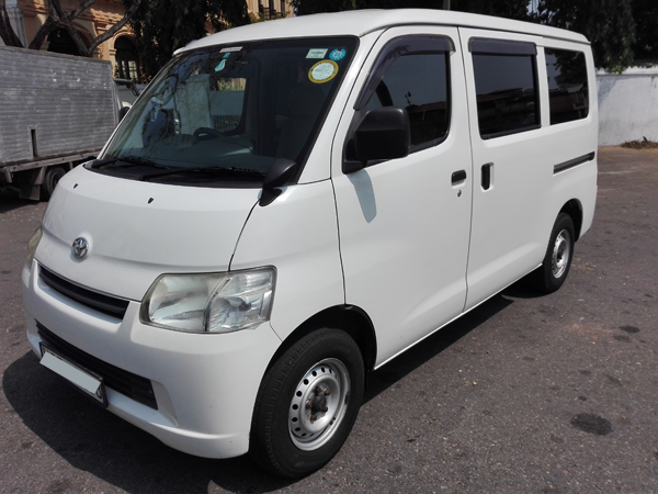 Self drive and with driver Toyota Town ace offered by Lespri car rentals sri lanka